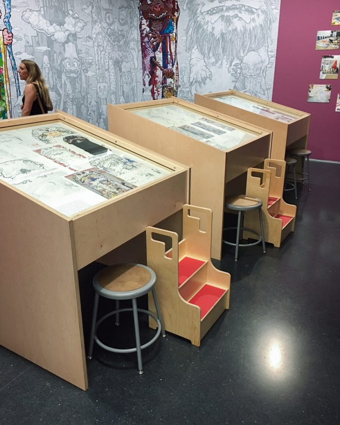 We made these simple display boxes for the Museum Of Contemporary Art using simple birch plywood with a clear finish.